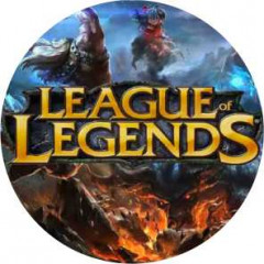 25 mm. emblem, League og Legends