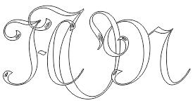 Gravering af flotte specialdesignede monogram